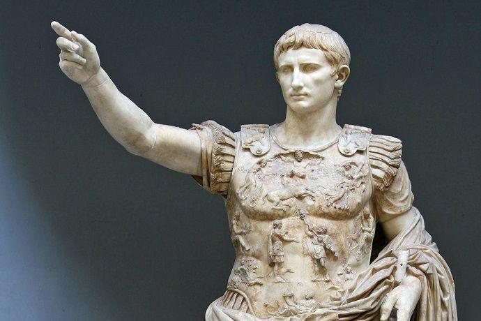 Estatua Augusto de Prima Porta. Museo Vaticano